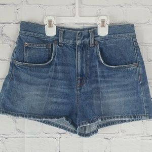 Christopher Kane distressed jean shorts